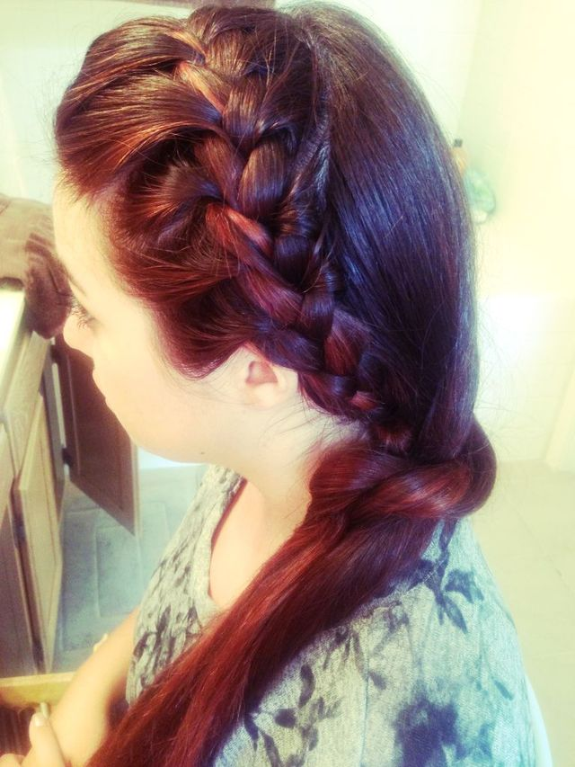 rich color and braids