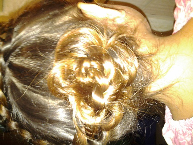 rose braid up-do