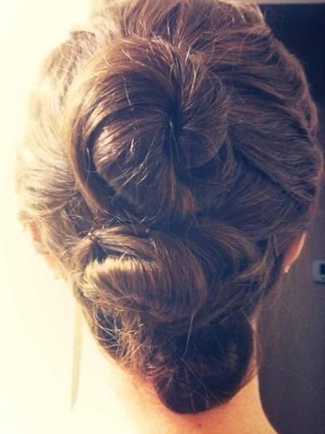 rosebud buns up-do