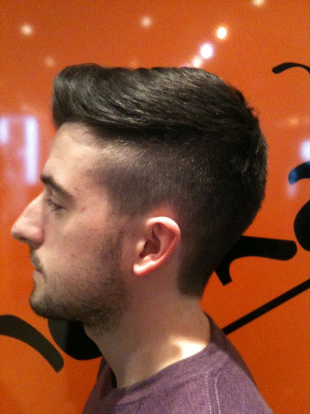 sharp edged quiff