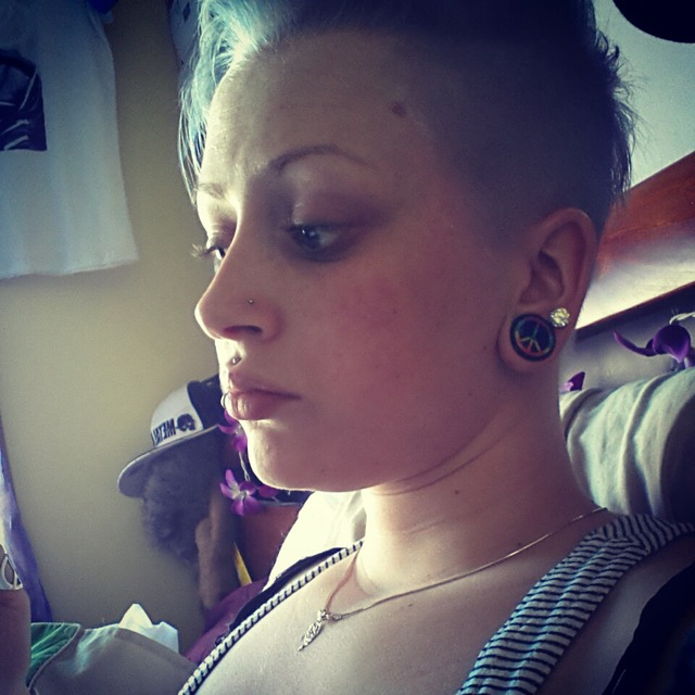 shaved back and sides