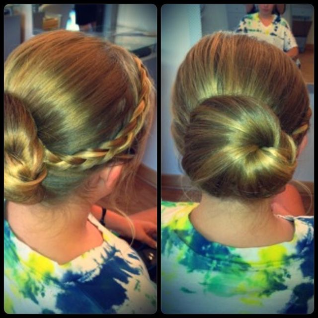 shell braid bun