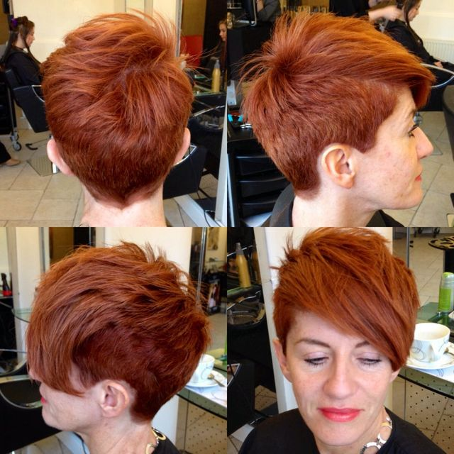 short copper asymmetric cut