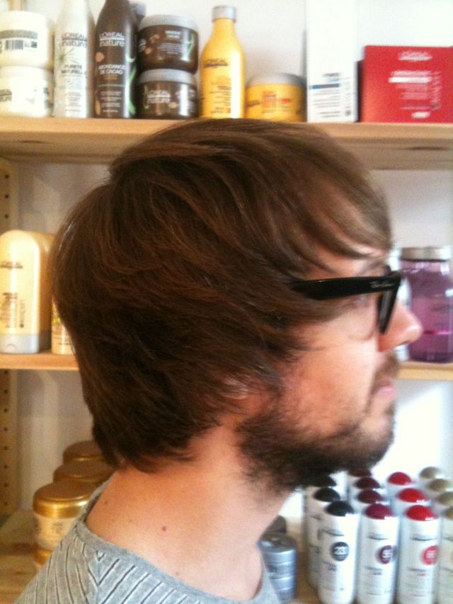 side profile long shaggy razor men's cut