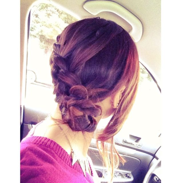 side-braid bun