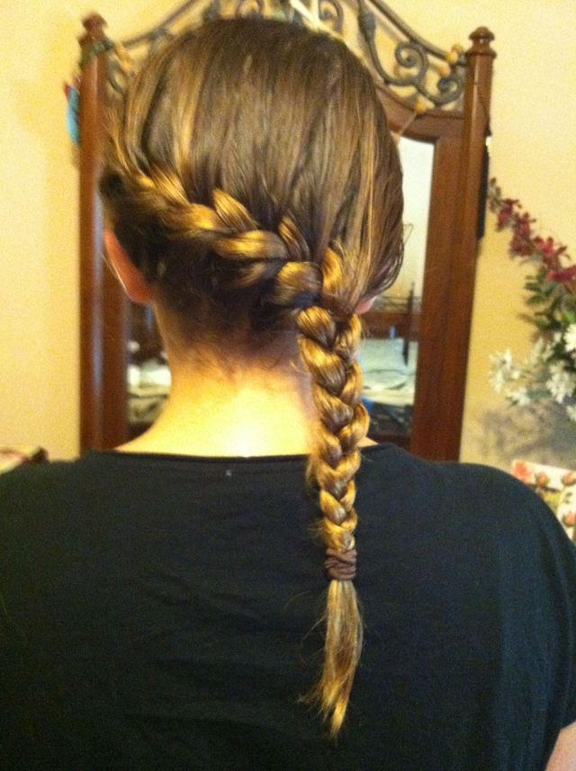 sideways French braid