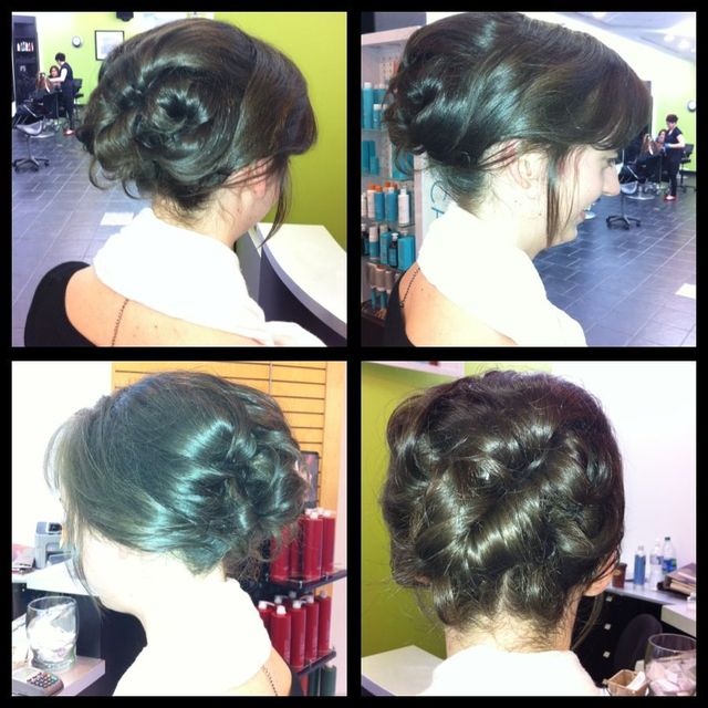 simple bride updo