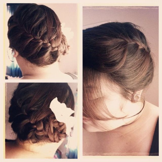 simple loose  updo