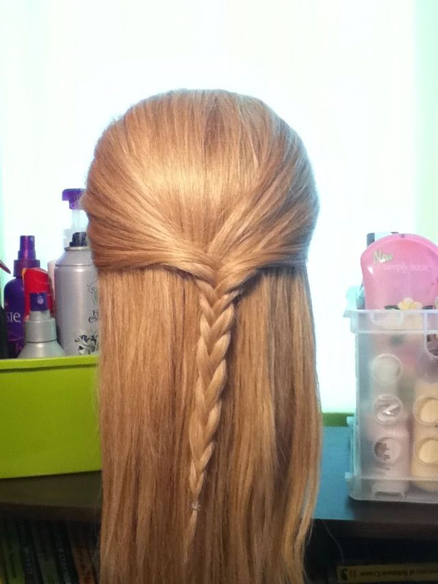 slight braided hairstyle