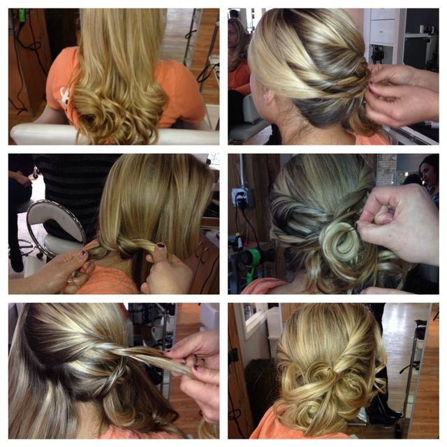 step by step easy updo