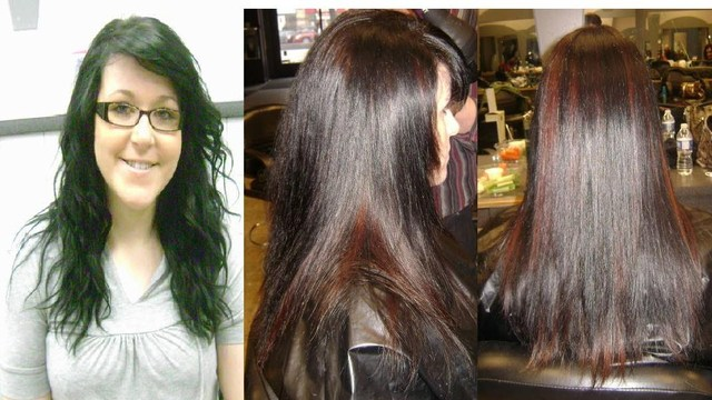 Color correction pre-L'Anza Spring 2010 Cut and Color Workshop