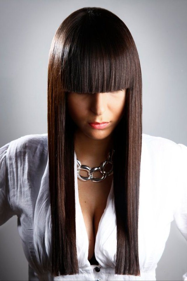 80's inspired square fringe