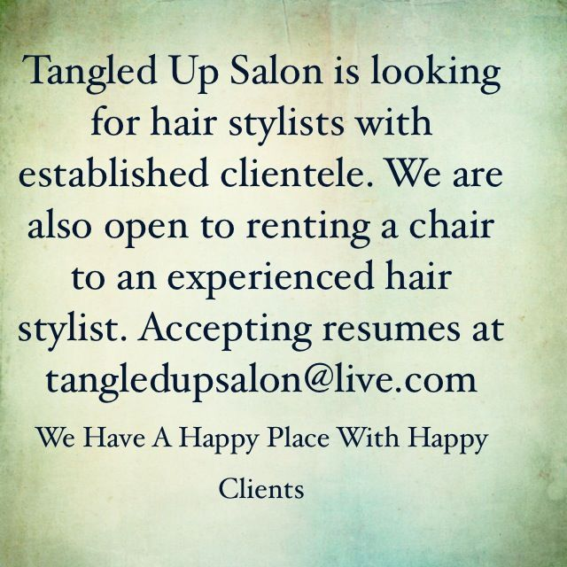 stylist needed