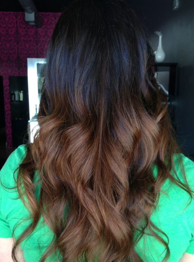 subtle brunette ombré //color by Kendi Sullinger #tigicopyrightcolour