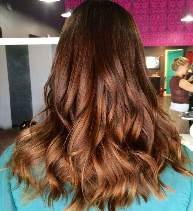 subtle ombré // color and cut by Kendi Sullinger // #tigicopyrightcolour