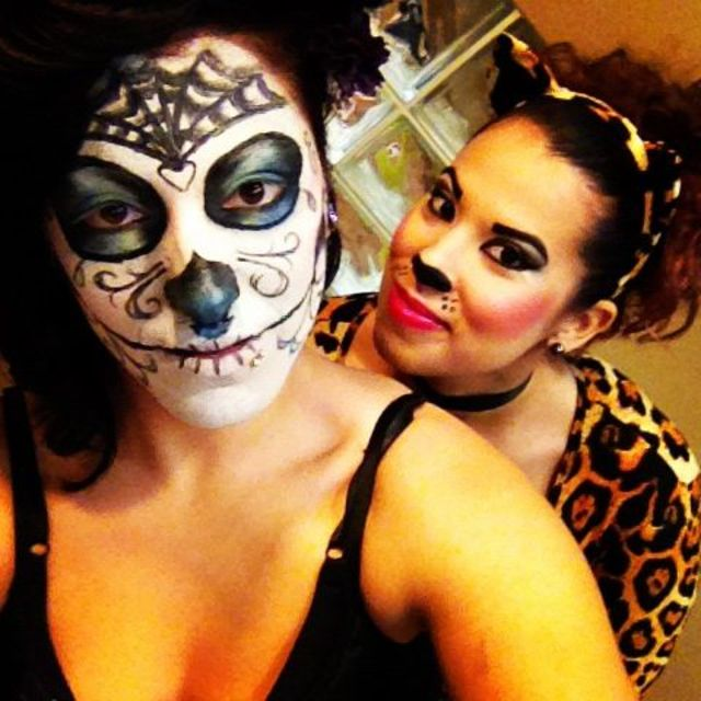 sugar skull and miss kitty