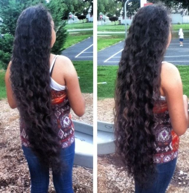 super long & curly