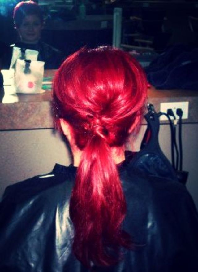 teased & twisted side pony!