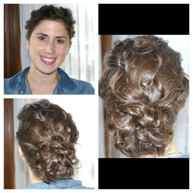 textured curly updo