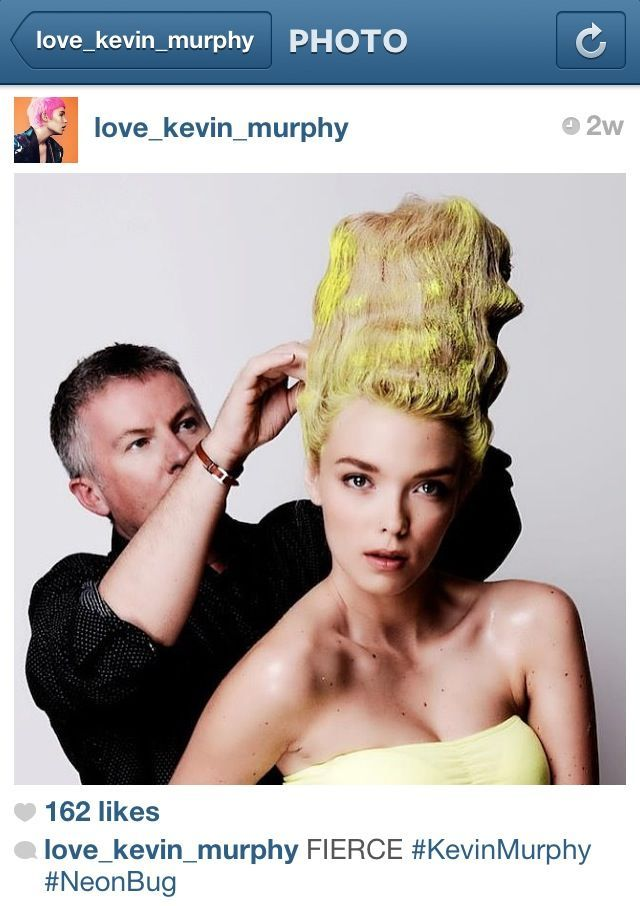 totally inspired by this neon Bride of Frankenstein-inspired updo