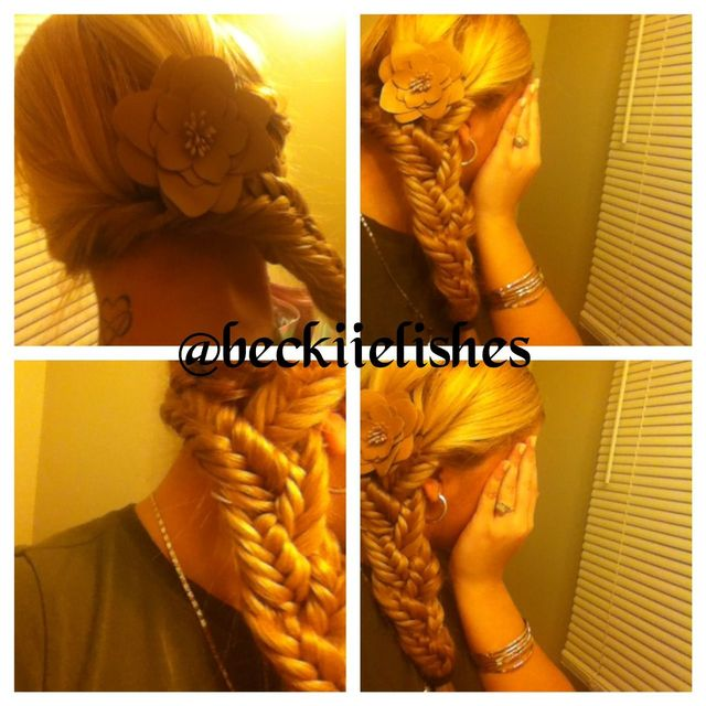triple fishtail braid