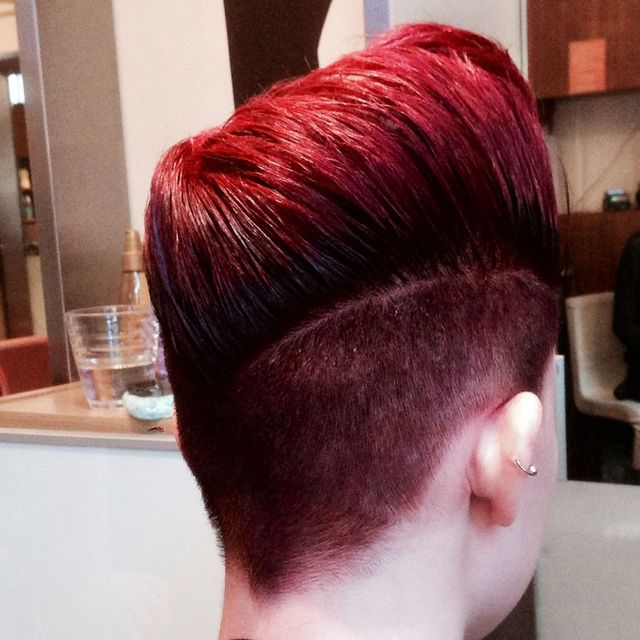 two tone red quiff