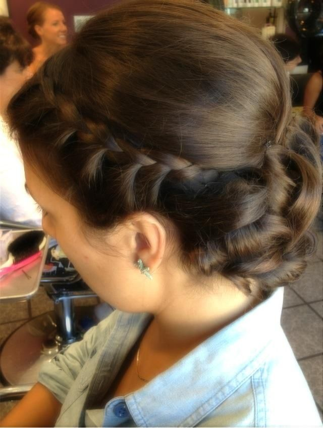 up style with braid