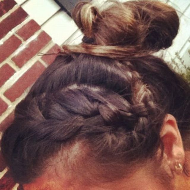 up-do braid