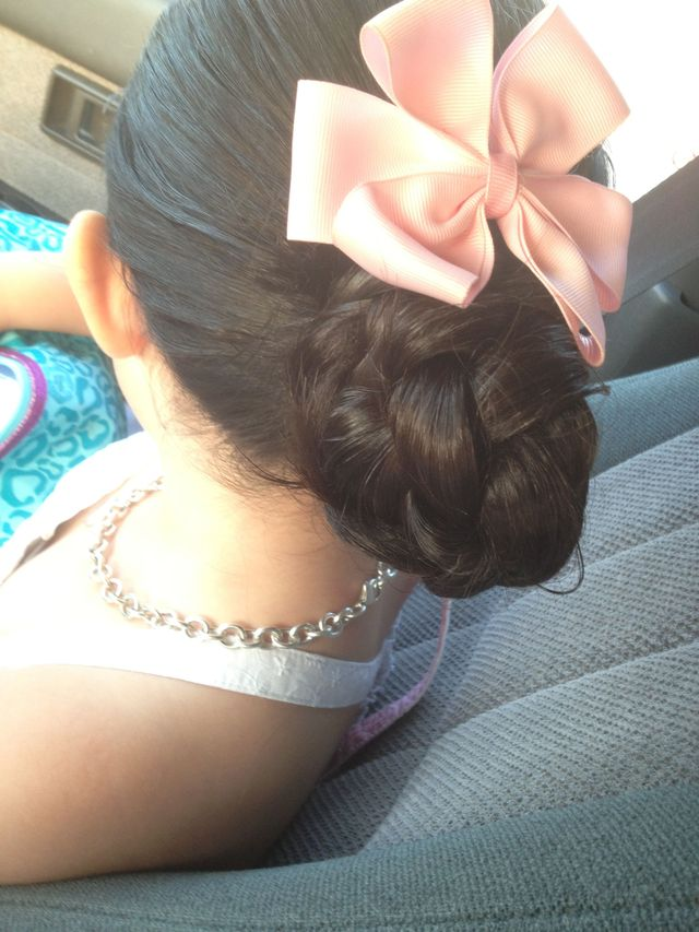 up-do braid bun