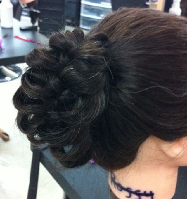 up-do cage braid