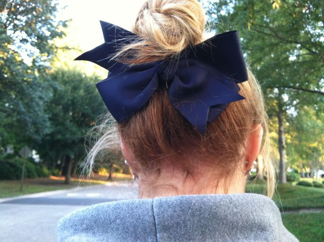 up-do with bow <3