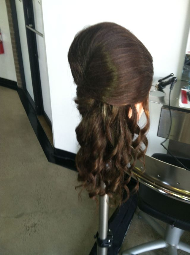 updo on dolly