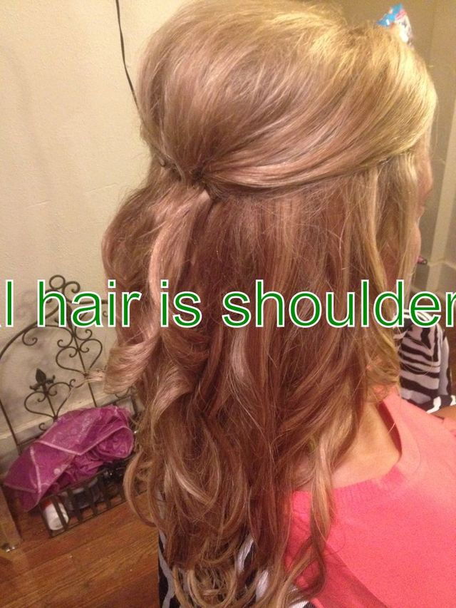 updo style using clip in hair extensions