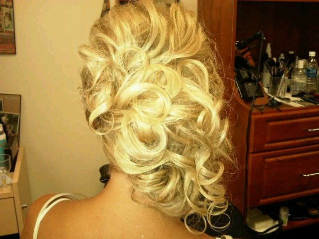 Off the shoulder updo
