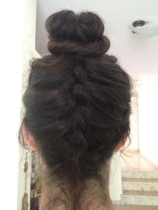 upside french braid