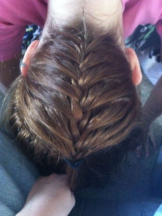 upside-down braid