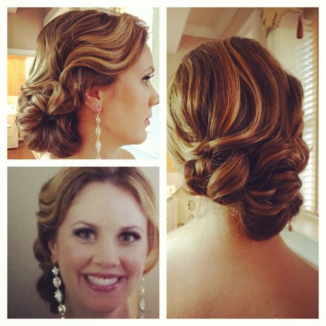 vintage inspired updo for bridesmaid