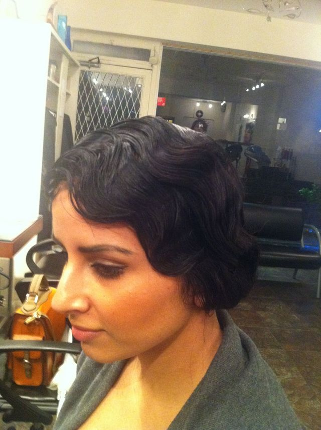 vintage pinup finger waves