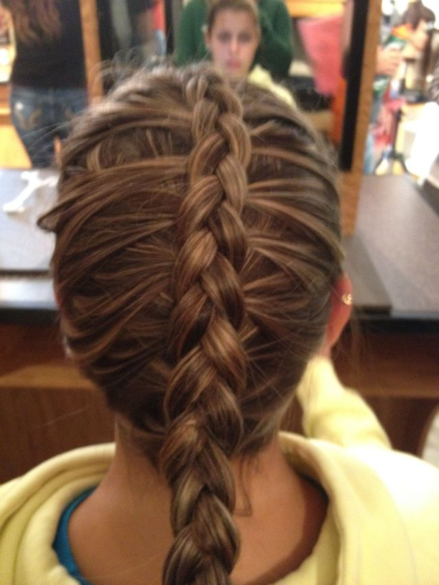 visible French braid