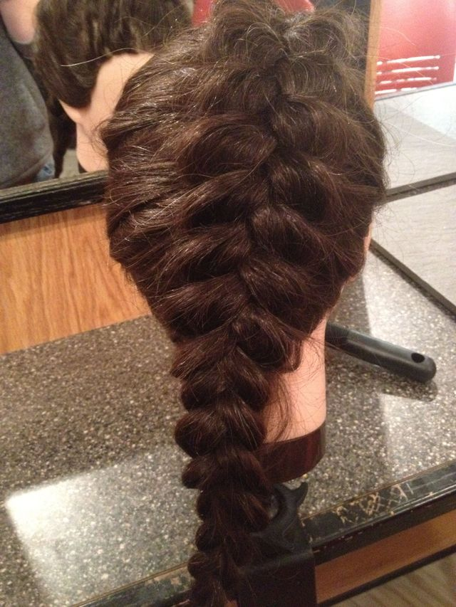 visible French pancake braid