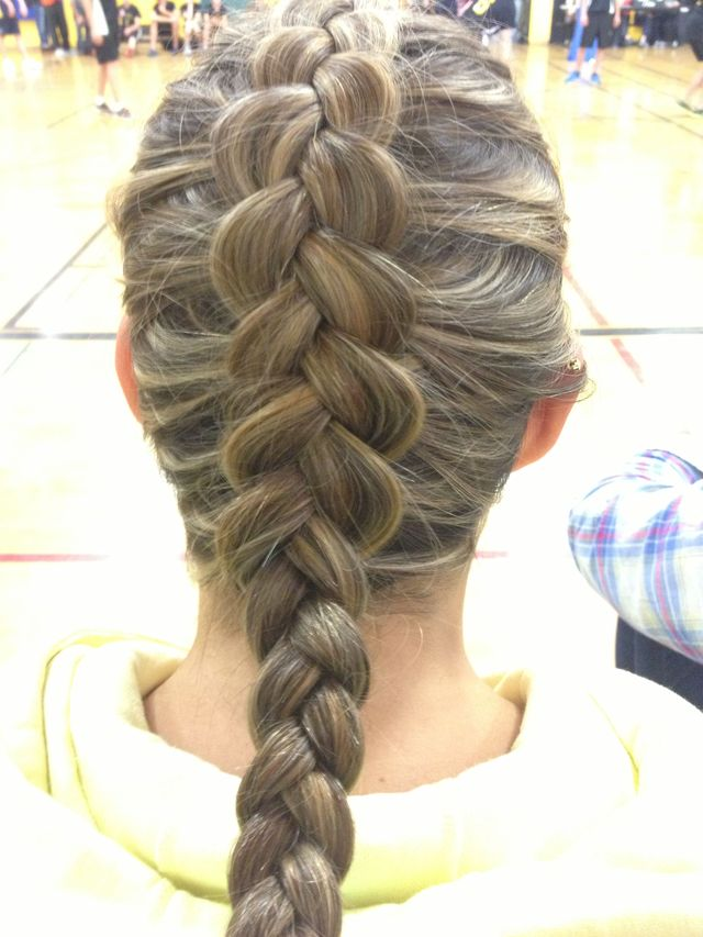 visible pancake braid