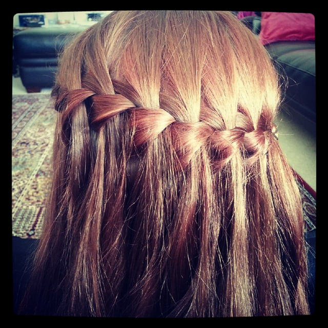 waterfall braid all around