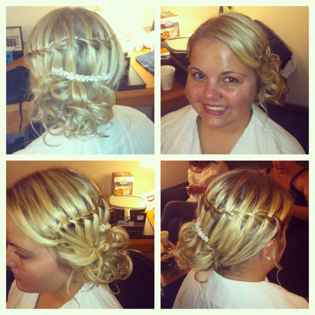 waterfall braid bride