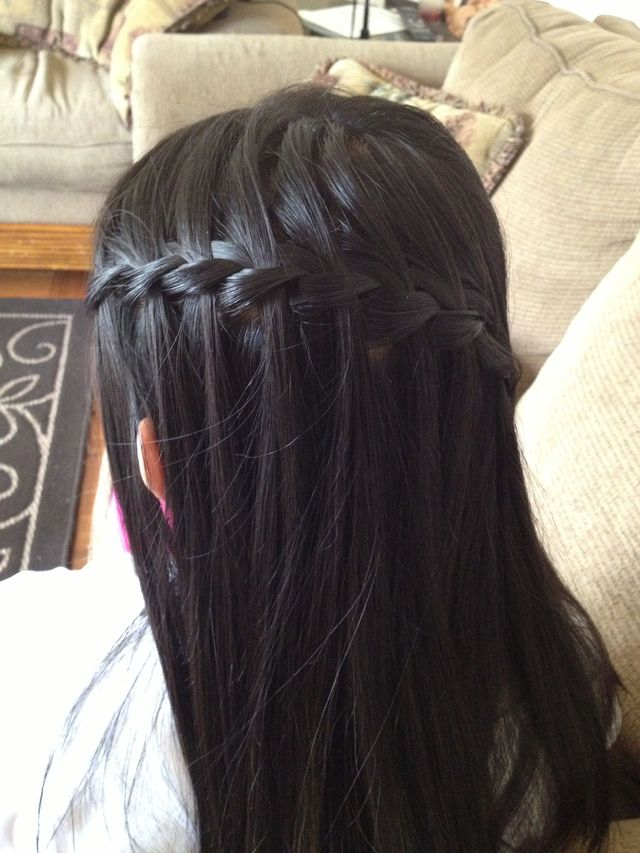 waterfall braid on my baby sister!