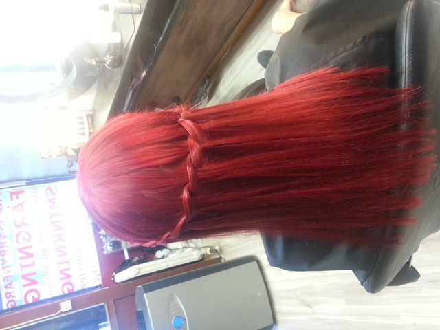 waterfall braid red