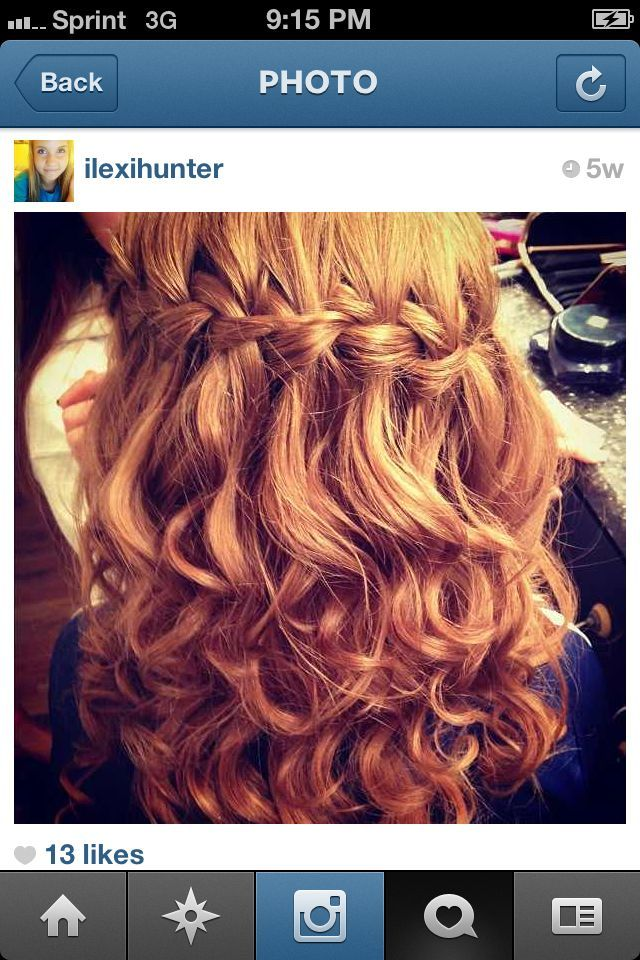 waterfall braid with curles