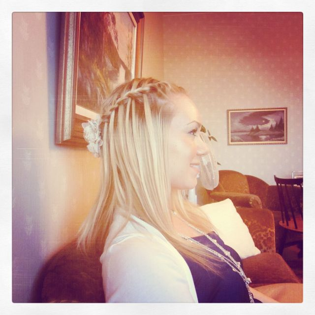 waterfall french braid
