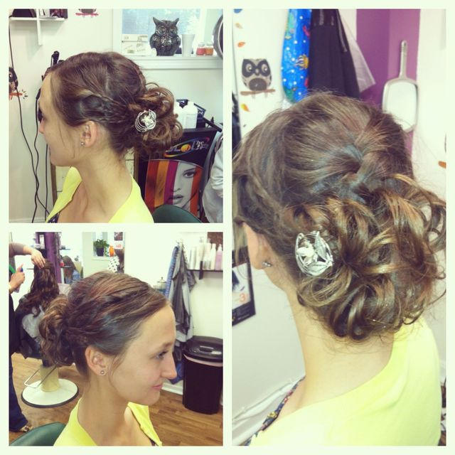 wedding updo bride