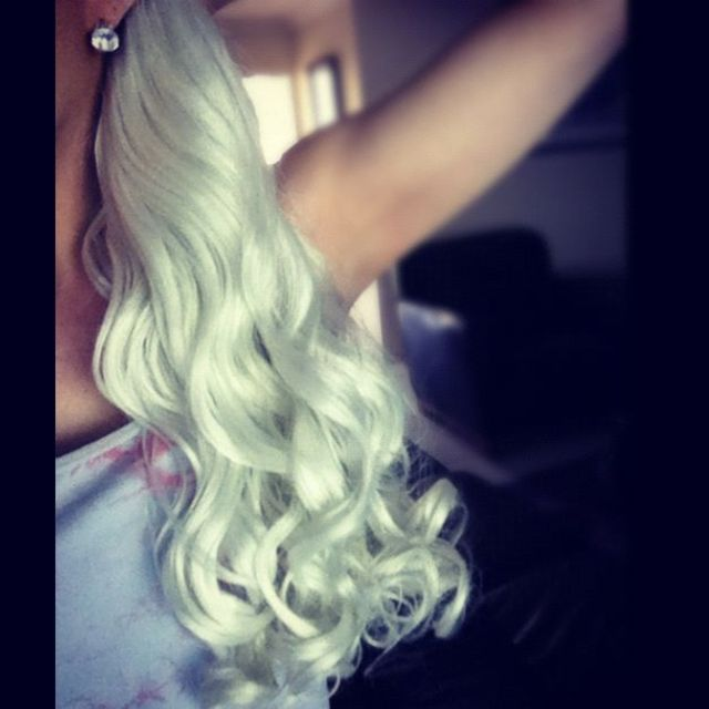 white curls :)