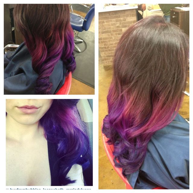 wild orchid and purple ombre